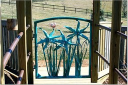 SPIDER DAYLILY GATE BUILT FOR MY FRIENDS AT GOOD DAYLILIES